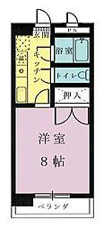 フォルム宮崎駅前[304号室]の間取り