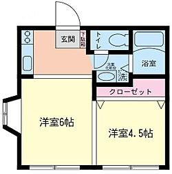 神奈川県相模原市緑区城山1丁目の賃貸アパートの間取り