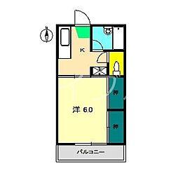 マーシーフラット[3階]の間取り