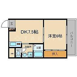 サムティイースト新大阪[10階]の間取り