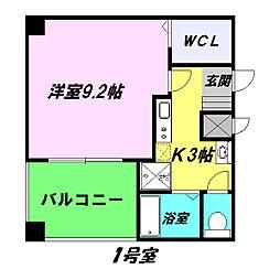 プリヴェ2号館[2階]の間取り