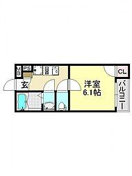 モダンアパートメント平野本町[2O4号室号室]の間取り