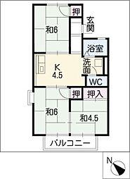 ファミール城東[2階]の間取り