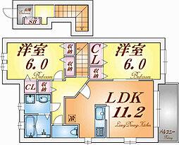 シャトーシモハタ4[2階]の間取り