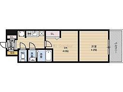 Osaka Metro長堀鶴見緑地線 京橋駅 徒歩3分の賃貸マンション 10階1DKの間取り