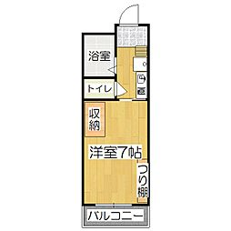 ラクロス桃山[3階]の間取り