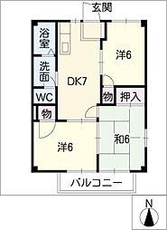 メゾンソレイユA棟[2階]の間取り