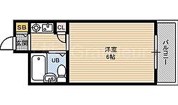 アベニール都島[9階]の間取り