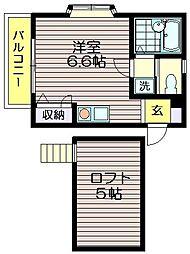 T・Park's KITANO[203号室]の間取り
