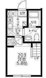 (仮)シティハイツ南台2丁目[203号室]の間取り