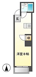ラディアント鶴舞[7階]の間取り