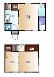 [一戸建] 東京都江戸川区平井7丁目 の賃貸【/】の間取り