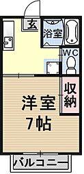 ポエム6[2C号室号室]の間取り