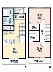 familia黒崎 I棟[2階]の間取り