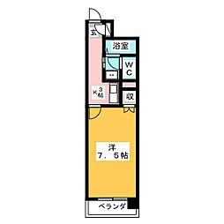 愛知県名古屋市名東区本郷2の賃貸マンションの間取り