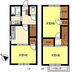 [テラスハウス] 神奈川県横須賀市馬堀町4丁目 の賃貸【/】の間取り