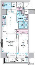 GENOVIA 東神田 green veil 7階1DKの間取り