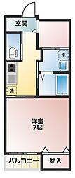 埼玉県東松山市材木町の賃貸アパートの間取り