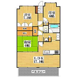 セントプレイス大阪アーバンコート[1階]の間取り