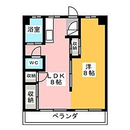 伊信マンション[4階]の間取り