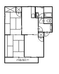 レセリーヌ・K[2階]の間取り