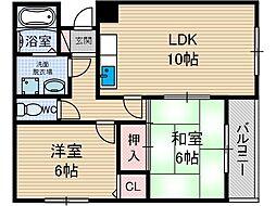 レスカル・ヨシダ[1階]の間取り