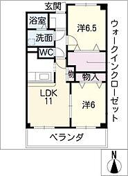 トラストなかむらII[1階]の間取り