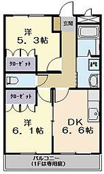 エバー・プレイス B棟[2階]の間取り