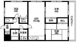 神奈川県川崎市麻生区王禅寺西5丁目の賃貸マンションの間取り