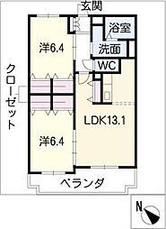 サンステージ[2階]の間取り