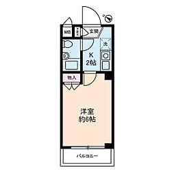 キャッスルマンション鶴間[1階]の間取り