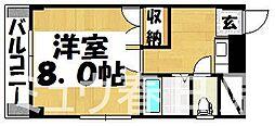 福岡県春日市須玖北9丁目の賃貸マンションの間取り