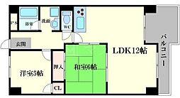 メゾンエルミタージュ 4階2LDKの間取り
