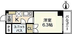 センテニアル横川[4階]の間取り