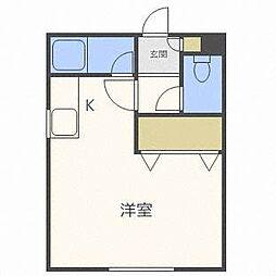 JKステージN14B[2階]の間取り
