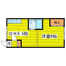 北海道札幌市東区北十九条東13丁目の賃貸アパートの間取り