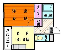 福岡県福岡市東区名島1丁目の賃貸マンションの間取り