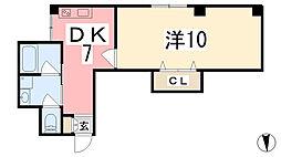 坂元町OMORIビル[301号室]の間取り