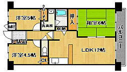 ファミールハイツ鳳サウスフォレスト2番館[4階]の間取り