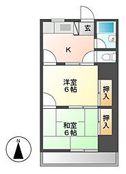 川奈ハイツ[5階]の間取り