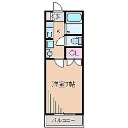 ホワイトコート新吉田[2階]の間取り