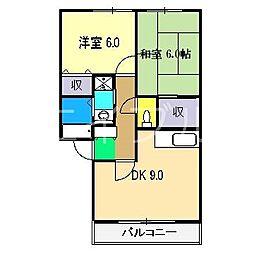 アリア B棟[1階]の間取り