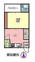 福原富士見第一ビル[308号室]の間取り