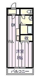 エスシーマンション[206号室]の間取り
