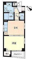神奈川県横浜市中区末吉町4丁目の賃貸マンションの間取り