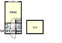埼玉県鴻巣市栄町の賃貸アパートの間取り