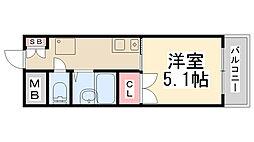 ダンディライオン宝塚[305号室]の間取り
