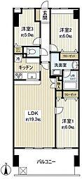 KANENARI和光[5階]の間取り