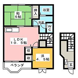 メゾンジュンの森A[2階]の間取り