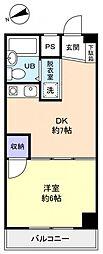 レジデンス松の木[1階]の間取り